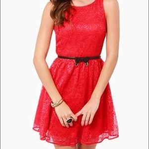 BB Dakota • Red Lace Cocktail Dress